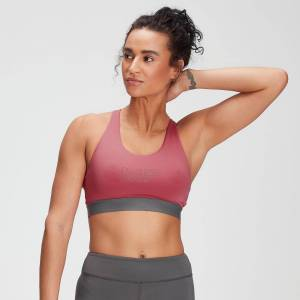 MP Women's Branded Training Sports Bra - Berry Pink - M