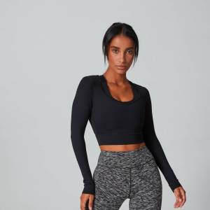 MP Power nyitott hátú női Crop trikó - Fekete - S