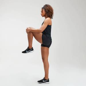 MP Women's Velocity Double Layered Shorts- Black - S