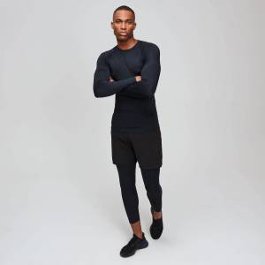 MP Essentials hosszú ujjú férfi edző aláöltözet - Fekete - S