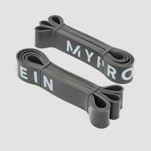 Myprotein Ellenállásos gumikötél szalag 1 pár (23-54kg) - Sötétszürke