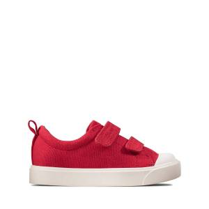 Clarks All Shoes - City Bright T Red Canvas 20