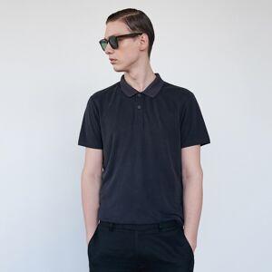 Reserved - Egyszerű kupró pólóing - Fekete