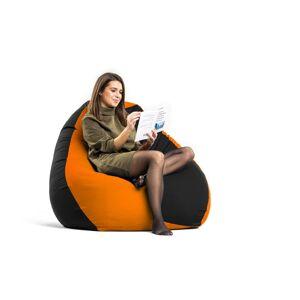 Babszem bútorház Fekete - Narancs XXL szövet babzsákfotel