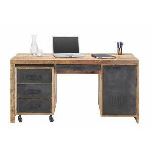 Íróasztal Tömörfa, Konténerrel Warehouse