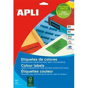 APLI Etikett, 105x37 mm, színes, APLI, kék, 320 etikett/csomag