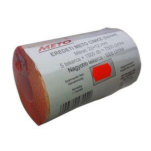 METO Árazógépszalag, 22x12 mm, METO, piros