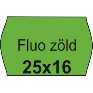 Árazószalag, 25x16 FLUO zöld