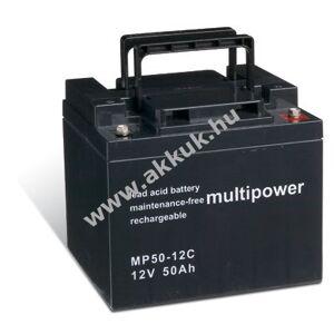 MULTIPOWER Ólom akku (multipower) elektromos kerekesszék Levo LCM 36 amp (ciklusálló, ciklikus)