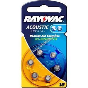 Rayovac Acoustic Special hallókészülék elem típus AE10 6db/csom.