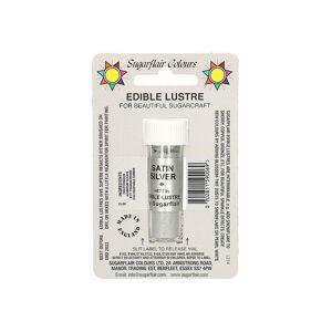 Sugarflair Colours Gyöngy por szín Satin Silver (ezüst szatén) - Sugarflair Colours