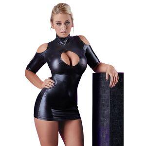 Cottelli Collection Cottelli - kivágott vállú party ruha (fekete)