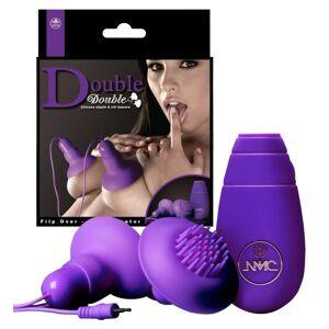 NMC Double - mellbimbó vibrátor - 1 pár (lila)