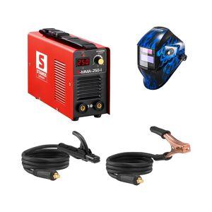 Stamos Basic Hegesztő készlet MMA hegesztőgép - 250 A - 230 V - IGBT + Hegesztő sisak - Sub Zero - EASY SERIES