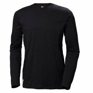 HH Workwear Workwear Helly Hansen Women'S Manchester Cotton Longsleeve Shirt L Black