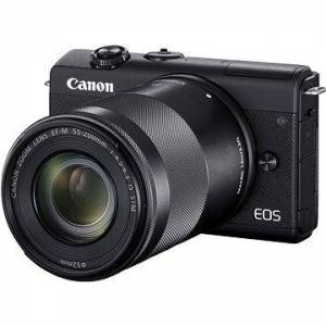 Canon EOS M200 + EF-M 15-45mm f/3.5-6.3 IS STM + EF-M 55-200mm f/4.5-6.3 IS STM