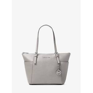 MICHAEL Michael Kors MK Jet Set Saffiano Leather Top-Zip Tote Bag - Pearl Grey - Michael Kors NS NS