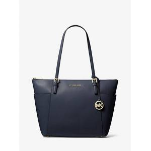 MICHAEL Michael Kors MK Jet Set Large Saffiano Leather Top-Zip Tote Bag - Admiral - Michael Kors NS NS