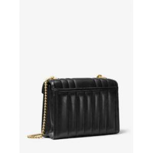MICHAEL Michael Kors MK Whitney Large Quilted Leather Convertible Shoulder Bag - Black - Michael Kors NS NS