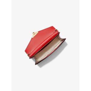 MICHAEL Michael Kors MK Grace Medium Patent Leather Envelope Clutch - Bright Red - Michael Kors NS NS