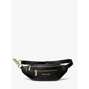 MICHAEL Michael Kors MK Medium Pebbled Leather Belt Bag - Black - Michael Kors NS NS