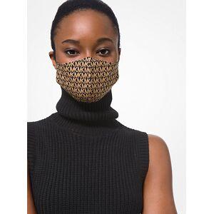 MICHAEL Michael Kors MK Logo Stretch Cotton Face Mask - Charcoal - Michael Kors L/XL L/XL