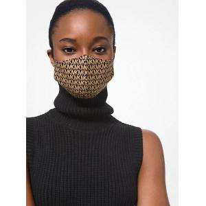 MICHAEL Michael Kors MK Logo Stretch Cotton Face Mask - Charcoal - Michael Kors S/M S/M