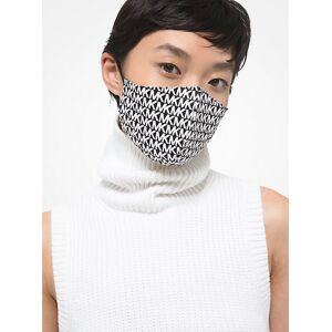 MICHAEL Michael Kors MK Logo Stretch Cotton Face Mask - Black/white - Michael Kors S/M S/M