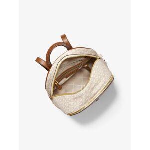 MICHAEL Michael Kors MK Rhea Medium Logo and Leather Backpack - Vanilla - Michael Kors NS NS