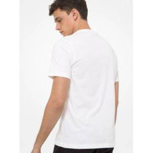 Michael Kors MK Logo Cotton T-Shirt - White - Michael Kors S S