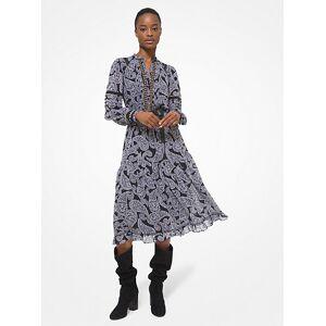 MICHAEL Michael Kors MK Lace Trim Paisley Georgette Dress - Black/white - Michael Kors US 10 / EU 42 US 10 / EU 42