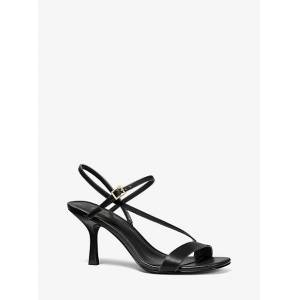 MICHAEL Michael Kors MK Tasha Leather Sandal - Black - Michael Kors EU 37 / IT 37 EU 37 / IT 37