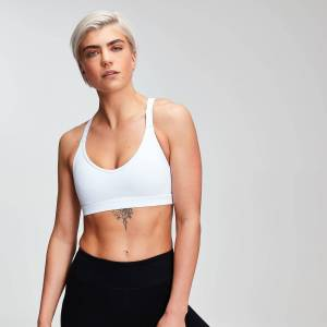 MP Women's Power Mesh Sports Bra - White - M