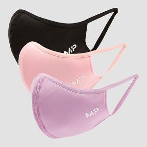 MP Curve Mask (3 Pack) - Black/Geranium Pink/Lilac - S/M