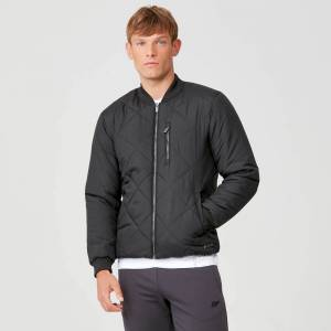 Myprotein Pro-Tech Quilted Bomber Jacket - Black - S