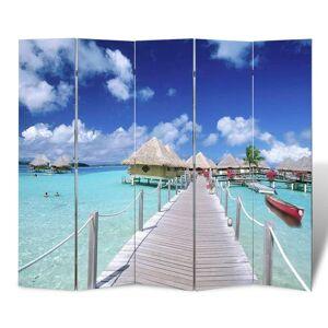 vidaXL Folding Room Divider 200x170 cm Beach