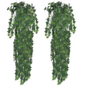 vidaXL 2 pcs Artificial Ivy Bush 90 cm Green