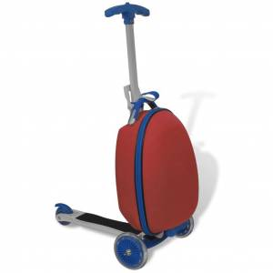 vidaXL Scooter with Trolley Case for Children Red