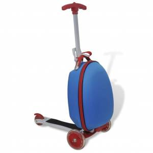 vidaXL Scooter with Trolley Case for Children Blue