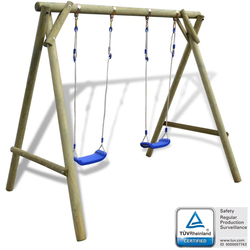 vidaXL Swing Set 204x154x210 cm FSC Pinewood