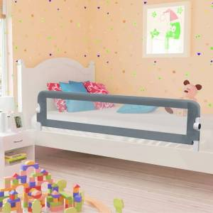 vidaXL Toddler Safety Bed Rail Grey 180x42 cm Polyester