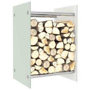 vidaXL Firewood Rack White 40x35x60 cm Glass