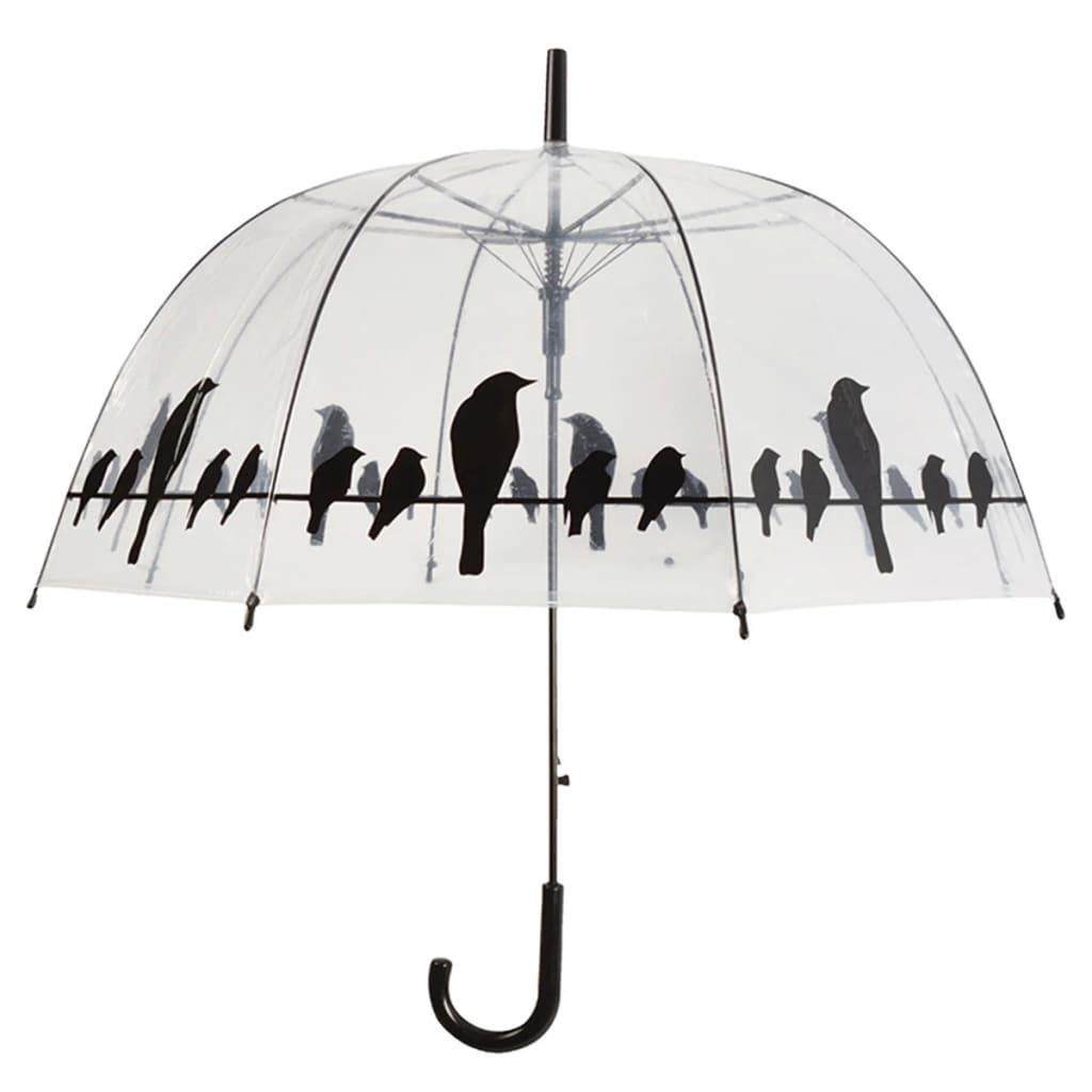 Esschert Design Umbrella Birds on a Wire Transparent TP166