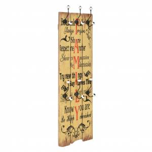 vidaXL Wall-mounted Coat Rack with 6 Hooks 120x40 cm FAMILY
