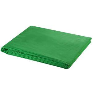 vidaXL Backdrop Cotton Green 300x300 cm Chroma Key