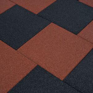 vidaXL Fall Protection Tiles 24 pcs Rubber 50x50x3 cm Black