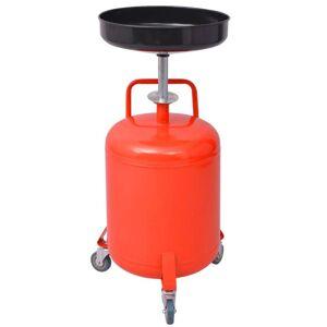 vidaXL Waste Oil Drainer 49.5 L Steel Red