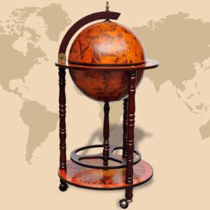 vidaXL Globe Bar Wine Stand Wood