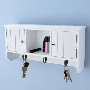 vidaXL Wall Cabinet for Keys and Jewelery with Doors and Hooks