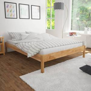 vidaXL Bed Frame Solid Oak Wood 180x200 cm 6FT Super King